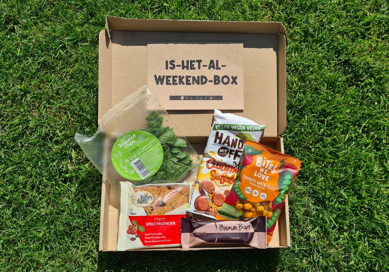 Groen snacken met Is-het-al-weekend-box van Goodcase