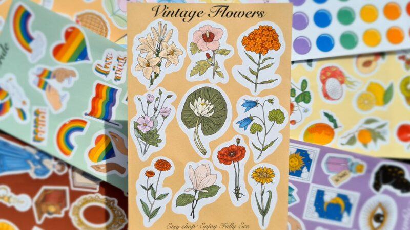 Plasticvrije stickers Enjoy Fully Eco: duurzaam en vrolijk